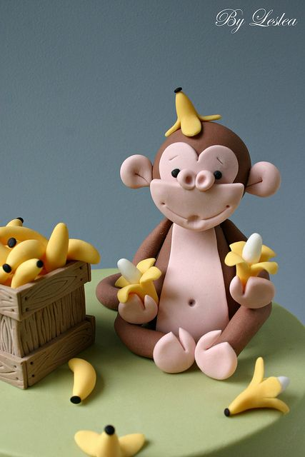 Cake ideas - monkey cake'...hey Deb, this would be hard I think...but its adorable!!!