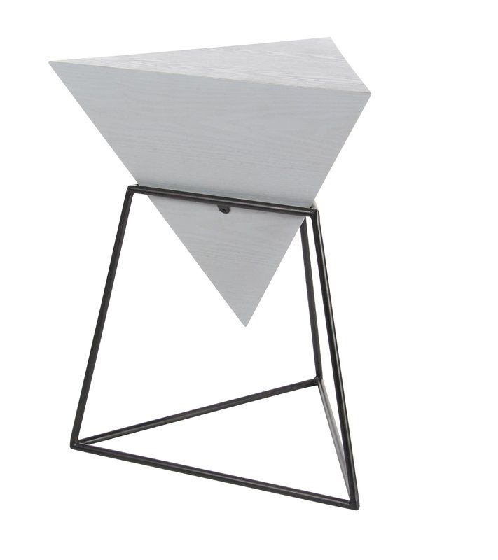 WoodMetal Triangle End Table Home Sweet Home Pinterest - Black triangle end table