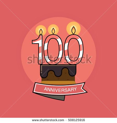 100 Colorful Birthday Candles number, Anniversary Logo Design Isolated on Pink Background