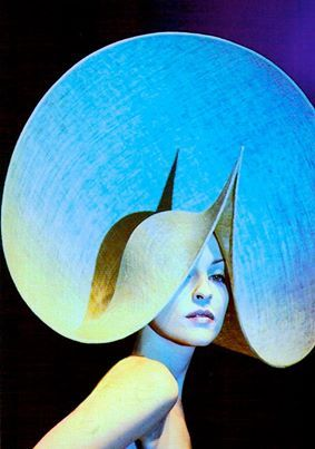 Susie Bick wearing a Philip Treacy hat