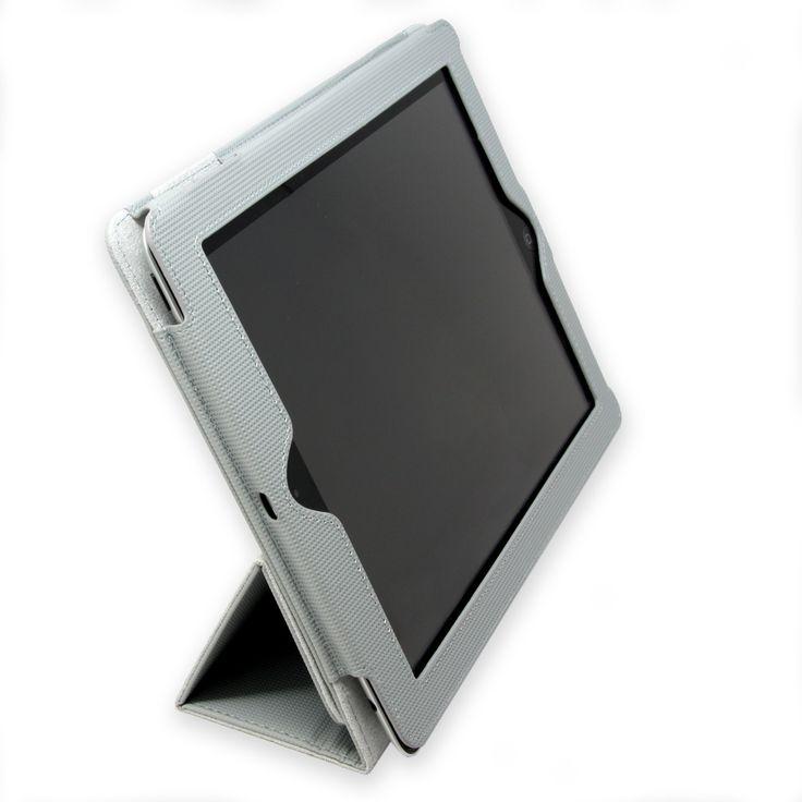 Tri-Fold Grey Folio Case for iPad 4