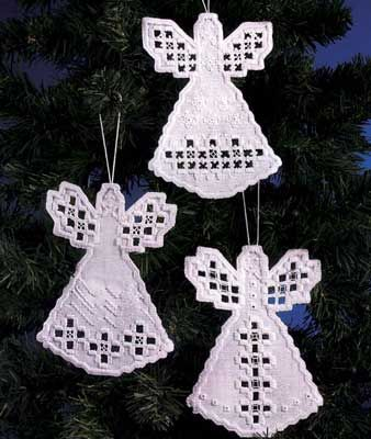 Angyalkák hímzett, karácsonyi dísz                                                                                                                                                     More