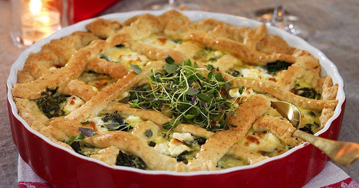 Vegetarisk grönkålspaj med fetaost recept