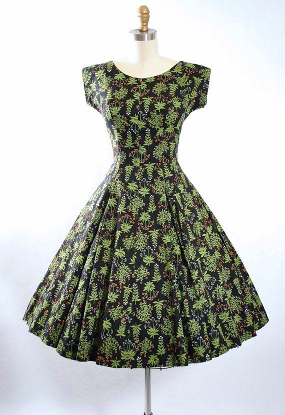 Vintage 50s Dress / 1950s SUNDRESS Novelty by GeronimoVintage