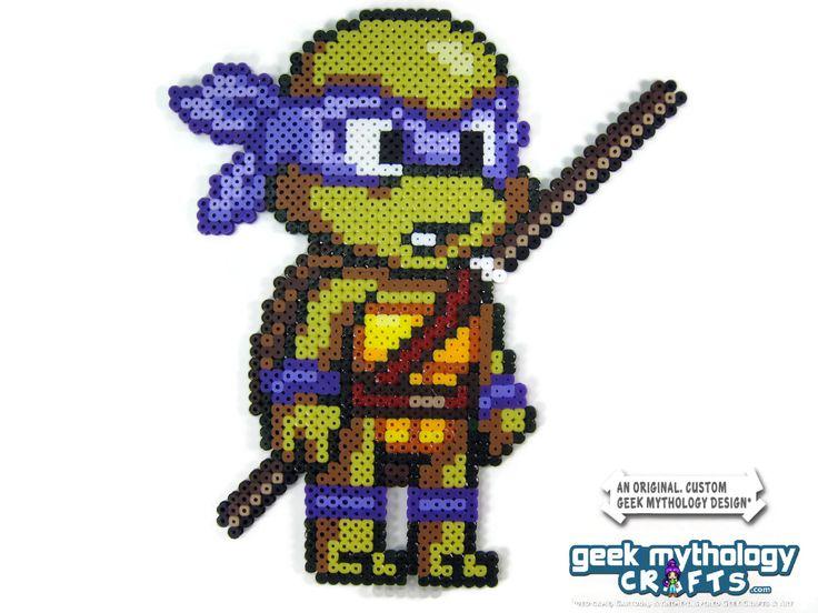 Teenage Mutant Ninja Turtles Perler Bead Sprite Figure (Chibishou 3) - Thumbnail 4