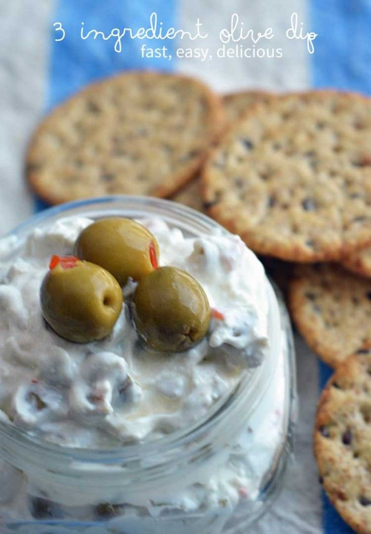 easy olive dip with only 3 ingredients (do salt & pepper count? If so, 5.) A great olive appetizer! #OlivesFromSpain