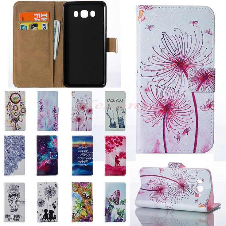 Leather Cover for Samsung Galaxy J1 2016/Galaxy J5 2016 Case Flip Wallet Card Holder Smartphone Mobile Phone Case A03 -- Detail produk dapat dilihat dengan mengklik gambar