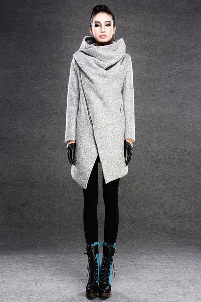 Women+Autumn+Winter+Gray+Wool+Coat-CF030+from+Luyahui+by+DaWanda.com