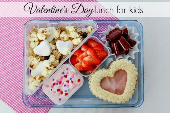 How cute is this Valentine's Day lunch for your little ones? They'll be the hit of the lunch table with this meal!