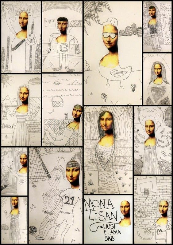 Mona lisa picture add ons