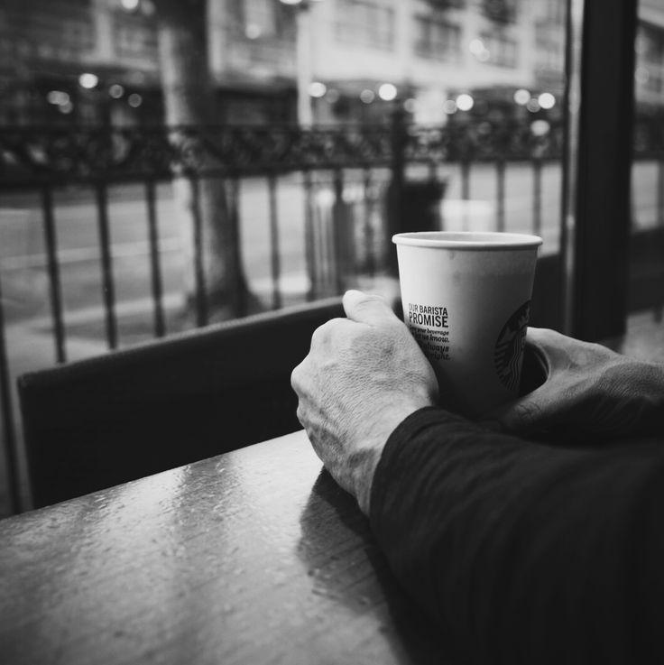 """Starbucks...first """"official"""" meet."""