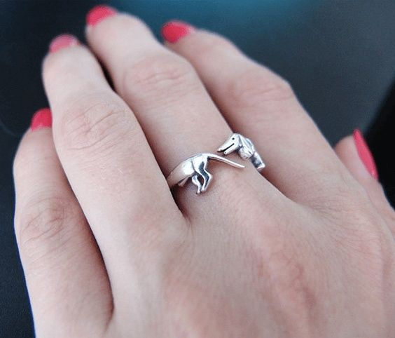 Ancient Dachshund Ring for Women