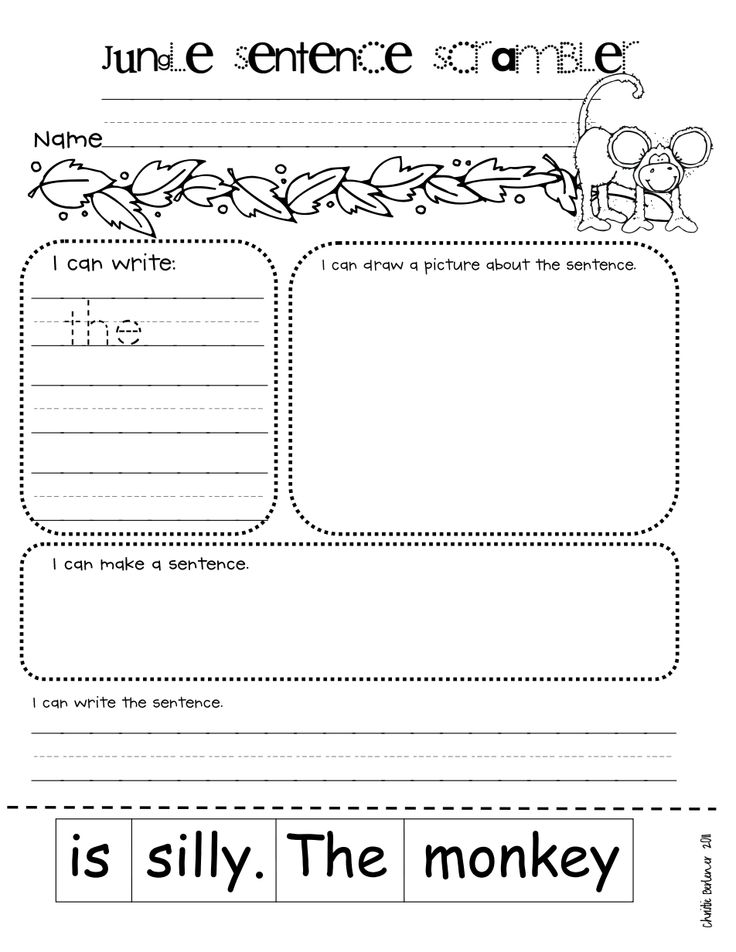 junglesentencescramblerfree.pdf First grade writing