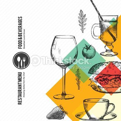 Vector Art : Restaurant menu design. Vector menu brochure template for cafe, coffee house, restaurant, bar