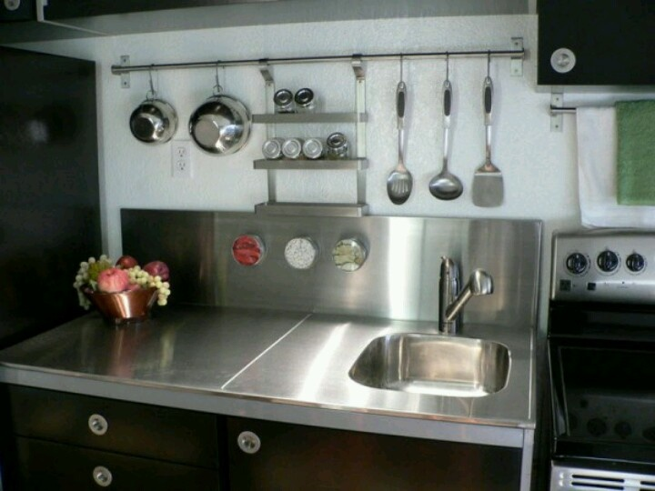 Kitchen in a container house
