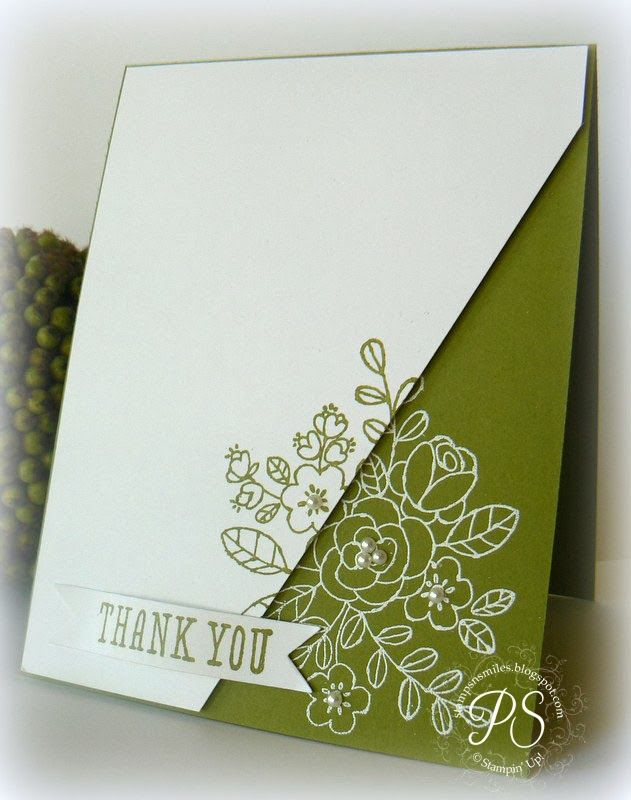 Love this mirrored effect done with embossing and stamping with classic ink.