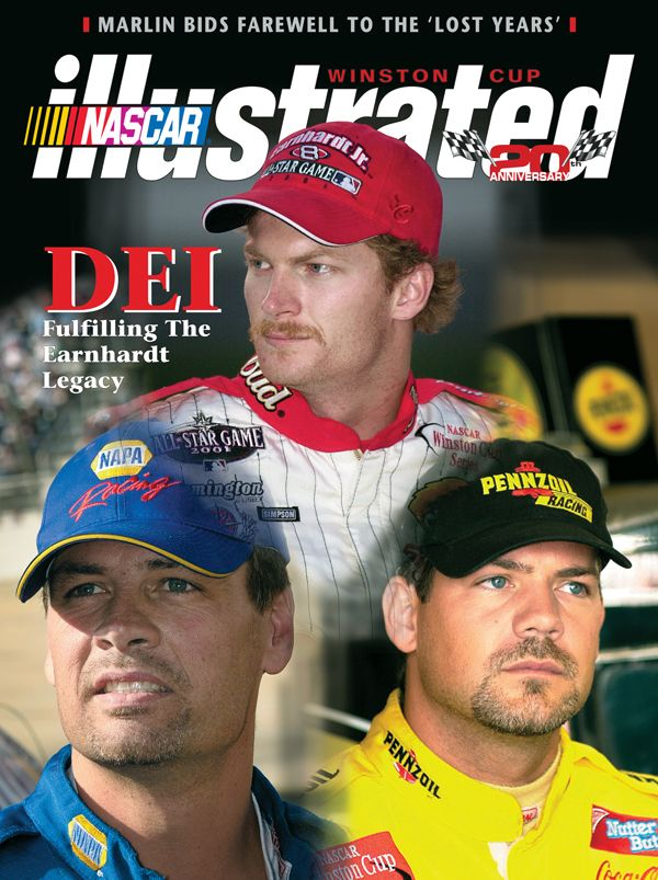 Dale Earnhardt Jr. on the cover of NASCAR Illustrated.