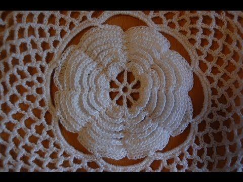 Un gran rosetón crochet