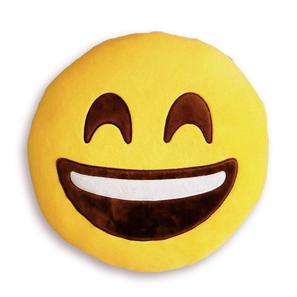 Coussin Emoji Rire SMILING FACE WITH OPEN MOUTH AND SMILING EYES  http://www.the-happy-factory.com/collections/emoji/products/coussin-emoji-rire