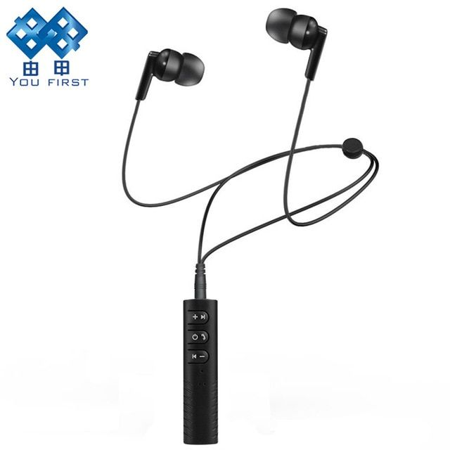 You First Wireless Earphone Bluetooth Sport Headset Jack Receiver Aux Bluetooth Headphones Wired 70cm Earphones With Microphone Review Headphones Bluetooth Headphones Bluetooth Earphones