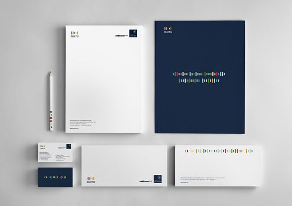 #Oxford #University Clinical #Research #Unit #Branding, #Business #Card, #Colorful, #Graphic #Design, #Logo, #Print, #Simple, #Stationary, #T-Shirt