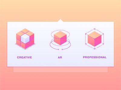 Mega Menu Icons for Web Application _자소서