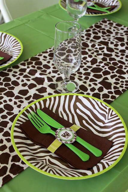 Modern Safari Baby Shower. This would be great with pink!
