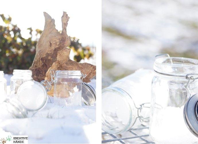 Kreative Hände Österreich - Salzlichter selbst gemacht