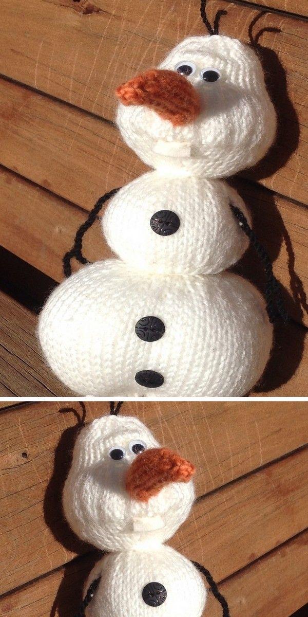 Adorable Knitted Snowmen Free Patterns | Frozen pattern ...