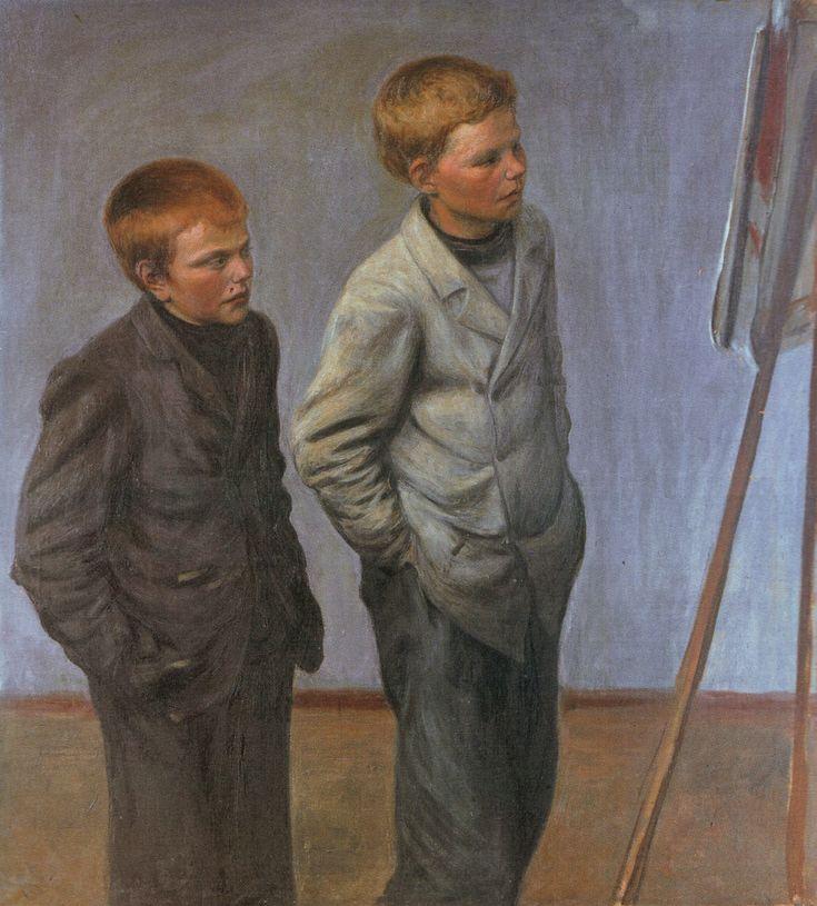 Veljekset, Finland, 1905, by Hugo Simberg.