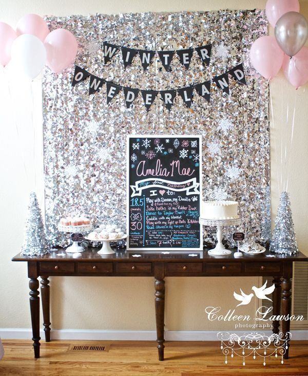 A Winter Onederland First Birthday Party