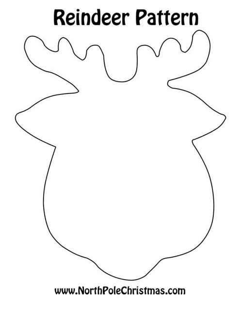 482 best images about printables fonts signs on pinterest for Reindeer cut out template