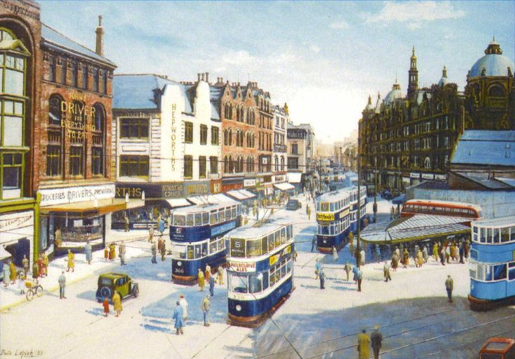 Pete Lapish - Vicar Lane - Leeds - West Yorkshire - England - Convert Ex Hull & Ex London Trams - 1948
