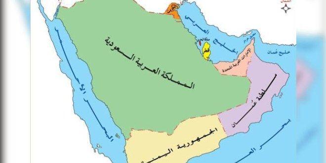 خريطة حدود شبه الجزيرة العربية Flower Border World Map World