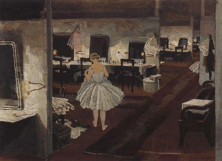 Zinaida Serebriakova In ballet dressing room 1924