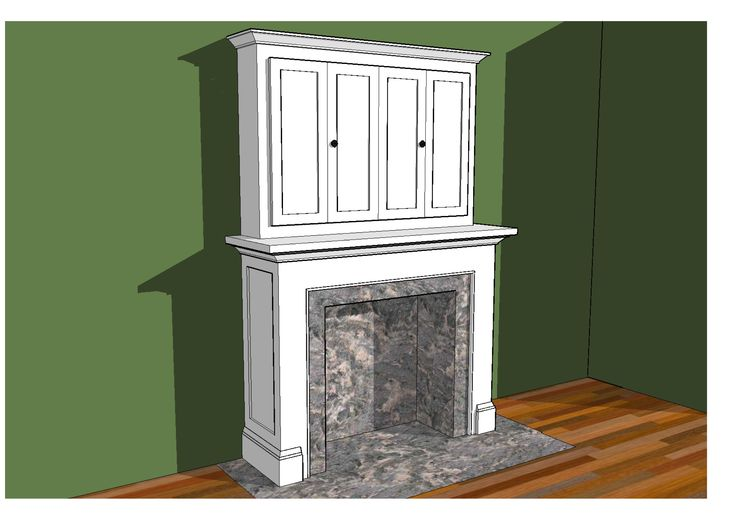 Hidden Tv Behind Bi Fold Doors Above Fireplace Design