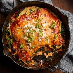 Adobo Chicken & Kale Enchiladas - EatingWell.com