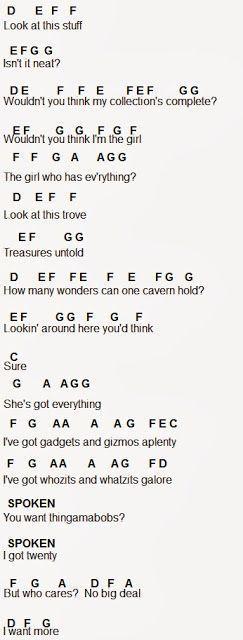 Flute Sheet Music: Part Of Your World #SimplePianoTutorials