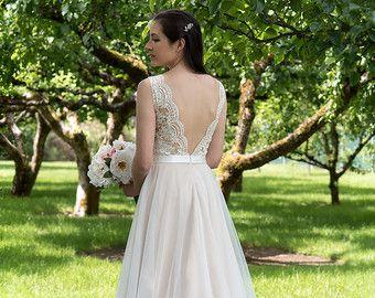 Spitze Brautkleid Hochzeit Kleid Hochzeits Kleid von ELDesignStudio