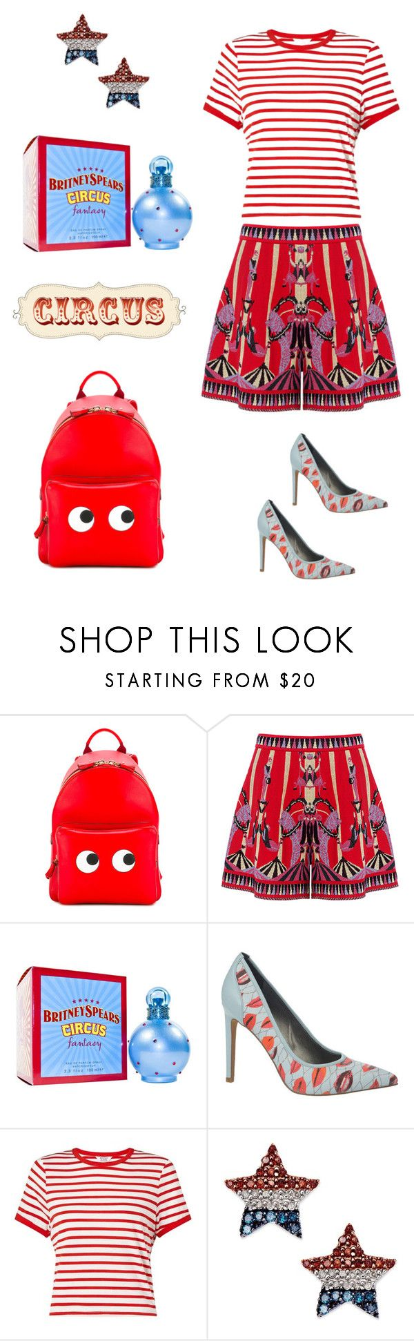 """""""Circus inspired🎪"""" by valelondon ❤ liked on Polyvore featuring Anya Hindmarch, M Missoni, Britney Spears, Circus by Sam Edelman and Miss Selfridge"""