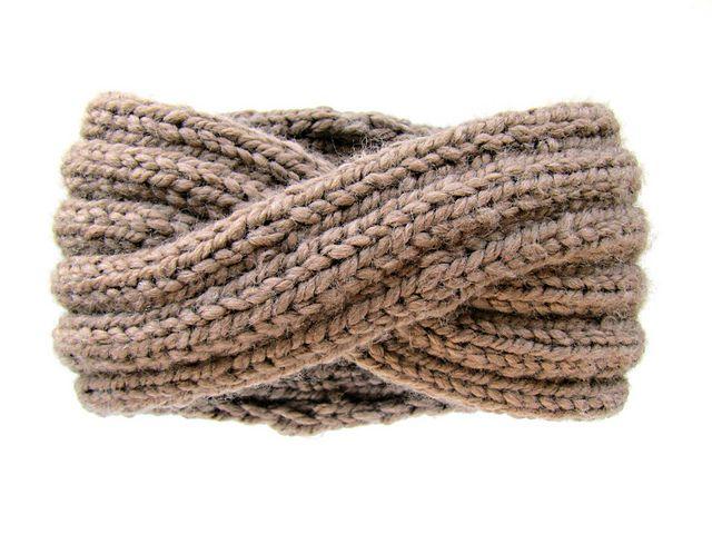 KnitsForLifes Cocoa Powder Wool Infinity Headband Wool ...