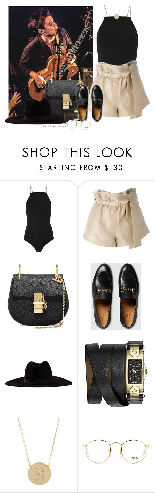 """""""First Solo US Show, The Troubadour: Los Angeles, California - 19 May 2017"""" by thisistheend ❤ liked on Polyvore featuring T By Alexander Wang, 3.1 Phillip Lim, Chloé, Gucci, Filù Hats, Givenchy, Jennifer Meyer Jewelry, Ray-Ban and Isabel Marant"""