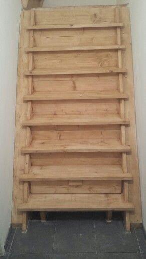 Mijn eigen gemaakte trap met la #steigerhout