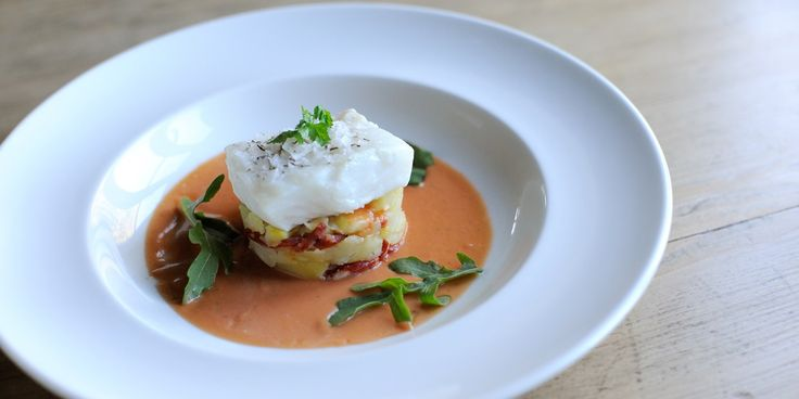 This salted cod recipe by Mark Dodson is an extraordinary cod dish. The tomato and thyme vinaigrette gives the cod a lovely flavour - perfec...