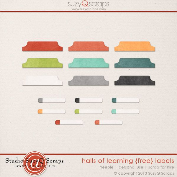 Free Digital Scrapbook Labels For A Limited Time Only