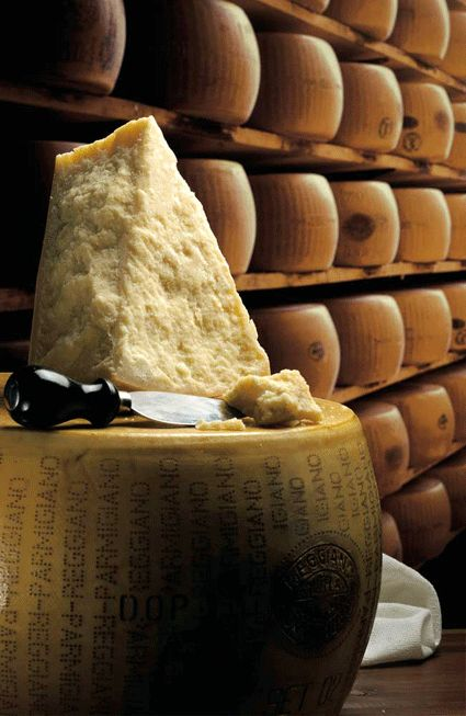 Parmigiano Reggiano ~ I would love to have that big 'hunk'!!!  Parm Reg makes everything taste better....except my wallet!