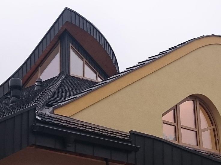 #oknaAmberline Konstrukcje nietypowe. Domek jednorodzinny w Grodzisku Mazowieckim.