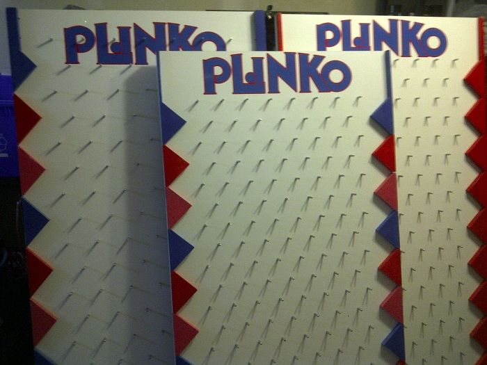 make your own plinko board - If we don't have one- someone might be willing to make one...?