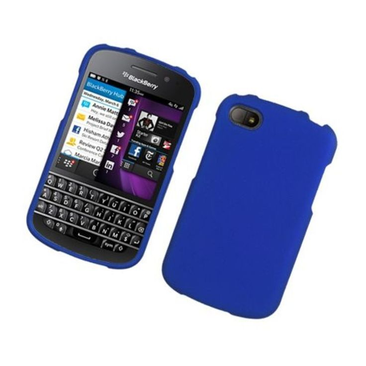 Insten Hard Snap-on Rubberized Matte Case Cover For BlackBerry Q10 #2319295