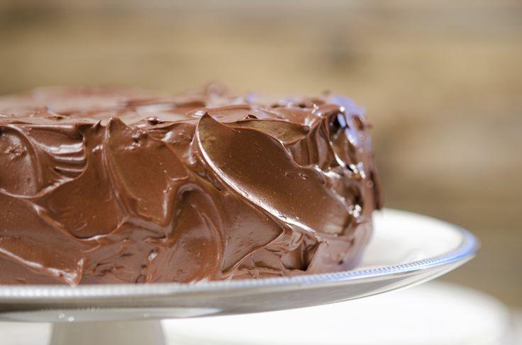 sjokoladekake på Fru Timians matblogg